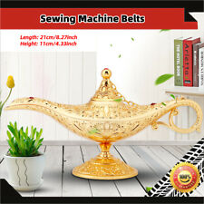 Metal Carved Genie Lamp Magic Wishing Tea Oil Pot Arabian Art Gold Collection