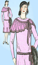 1920s VTG Ladies Home Journal Sewing Pattern 6215 Uncut Flapper Party Dress 36B