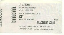 RARE / TICKET BILLET DE CONCERT - MOBY : LIVE A LILLE ( FRANCE ) 2000