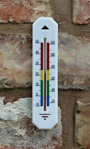 WALL THERMOMETER HOME OFFICE GARDEN INDOOR OUTDOOR MULTI-PURPOSE GREENHOUSE