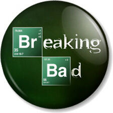"Breaking Bad Logo 1"" 25mm Pin Button Badge Walter White Jesse Pinkman Heisenberg"