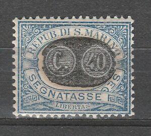 s37617 SAN MARINO MNH** 1931 Segnatasse c.40 su c. 10 1v Sassone 42