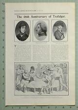 1903 Estampado Artículo Trafalgar Lord Nelson Dama Hamilton San Vicente ~