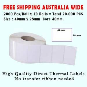 20.000Pcs Waterproof 40 x 28 mm Thermal Label Barcode Labels Roll Sticker