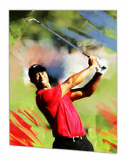 Tiger Woods hand painting signed by artist