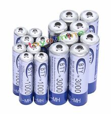 8 AA+8 AAA 1000mAh 3000mAh 1.2V BTY NI-MH Rechargeable Battery Cell/RC MP3