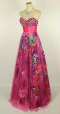 New FAVIANA 6901 Print / Lipstick Evening Ball Gown Formal Dress  Size 0