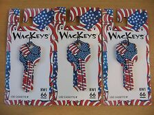 Wackeys Blank House Key KW1 66 New American Flag Red White & Blue Quantity = 3