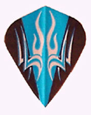 Dart Flights- Blue, Black, Silver Tribal Kite - 5 Sets