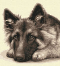 GERMAN SHEPHERD DOG, puppy, ALSATIAN full counted cross stitch kit