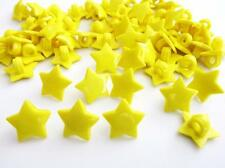 30 Kid Collection Plastic Sewing Button/Trim/Shank/Craft/Notion/Yellow Sb84-Star