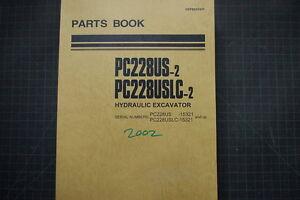 KOMATSU PC228US-2 Excavator Parts Manual Book Catalog spare index shop list 2002