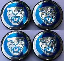 4 NEW JAGUAR S TYPE X TYPE XJ8 XK8 XKR WHEEL MOTIF CENTER CAP BLUE **NEW STYLE**