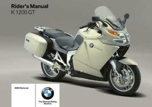 BMW K 1200 GT   OWNERS  RIDERS  HANDBOOK  MANUAl