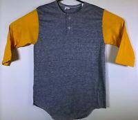 Vtg NOS Sports T Stedman BLANK RAGLAN Baseball 3/4 Sleeve T-Shirt Medium 80s