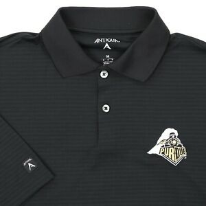 "Antigua Men Medium 47"" Purdue University Train Golf Polo Shirt Boilermaker"