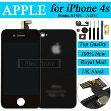 Black Screen For iPhone 4S Touch LCD & Digitizer Replacement+Cover+Home Button
