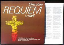 Cherubini Requiem Thüring Bräm Turicaphon 1986 LP M, CV NM
