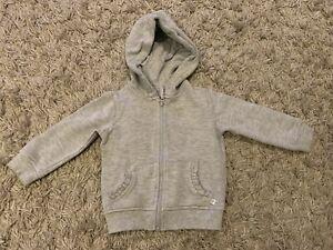 Baby Girls Grey Hoody Hoodie Age 1.5-2 Years 18-24 Months