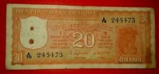 INDIA RS..20 RUPEES  S.JAGANNATHAN PARLIAMENT ISSUE ORANGE NOTE RARE