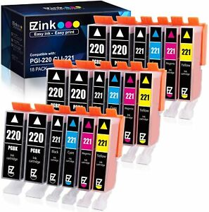 E-Z Ink Compatible Ink Cartridge Replacement for Canon PGI-220 & CLI-221 20 Pack