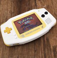 Nintendo Gameboy Advance GBA White  Handheld Gaming Console BACKLIT IPS Pokemon
