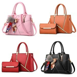 Women Leather Handbags Shoulder Bags Tote Purse Messenger Satchel Crossbody