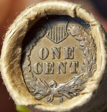 S TAIL INDIAN/1891 INDIAN END COINS OF MIXED ANTIQUE OLD ROLL AS SHOWN #9042