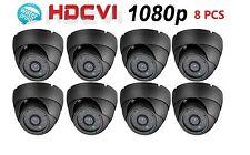 8pcs HD CVI/TVI/AHD/Analog 1080P Dome Camera 2MP1/2.7 COMS 2.8mm,24 IRs Gray