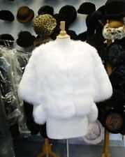 NEW WHITE FOX FUR CAPE SHAWL FOR WOMEN WEDDING SIZE ALL