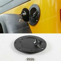 Locking Fuel Tank Cover Door Gas Lid Filler Cap Kit For Jeep Wrangler TJ 1997-06