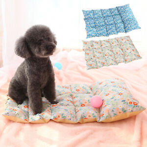 Dog Bed with Pillow Cosy Cotton Cushion Mattress Sleeping Mat for Kennel Crate