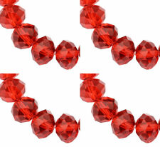 ❤ Faceted Rondelle Crystal ABACUS Glass Beads CHOOSE COLOUR Jewellery Making ❤
