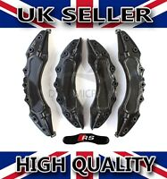 UNIVERSAL BRAKE CALIPER COVERS SET KIT FRONT & REAR BLACK ABS 4PCS - RS