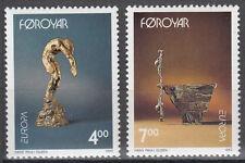 Føroyar/propriété No. 248-249 ** Europe 1993/Hans Pauli Olsen, sculptures