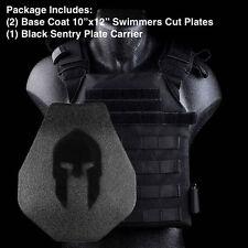 AR500 Body Spartan Armor | Swimmer Cut + Black Sentry Plate Carrier Level III
