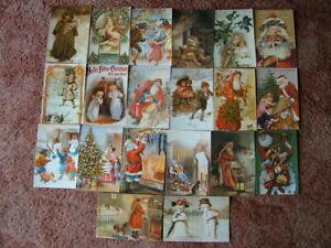 20 Unused Oversize BLOOMSBURY - VICTORIAN CHRISTMAS Postcards. Good condition.