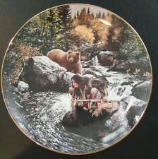 Bradford Vision Seeker Guiding Spirits Indian Plate Craig Tennant Grizzly Bear