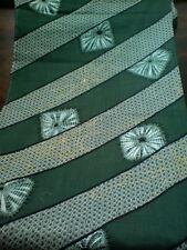 Men's Olive Green Gold Spider Web Juban Japanese Kimono Wool Cushion Fabric LAST