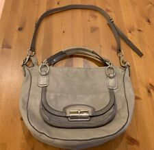 Coach 19307 Kristin Spectator Round Leather Python Croc Shoulder Bag Gray