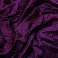 Premium GRAPE Crushed Velvet Fabric Material 150cms Wide material