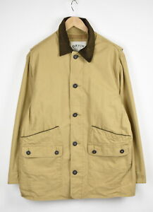ORVIS Men's LARGE Thin & Rigid Corduroy Trim Pockets Polo Jacket 34215-GS