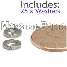 M4 / 4mm - Qty 25 - DIN 127B Split Lock Washer Stainless Steel 18-8 / A2-70