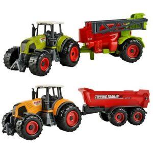 Kinder Spielzeug Farmer Set Trecker Traktor Anhänger Kipper Heupresse 6 teilig