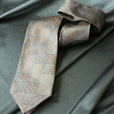 Vintage Gucci Triangle Jacquard Brown & Blue Tie
