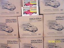 NEW Coca Cola Coke Truck Bottles 1930 GLASS 6 SET CASE Semi METAL Carriers 2001