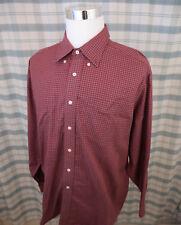 LL Bean Mens Shirt -  Red Plaid, Button Front, Long Sleeve Cotton XL Reg - A702d