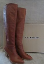 LUCKY BRAND Azoola Whiskey Tall Knee High Leather Boots Shoes Size US 8.5 M NWB