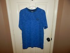 Men's Under Armour Heat Gear Vanish Seamless Blue Workout Top Shirt Size Large L