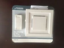 85 dB Wireless Plug-In Door Bell Kit with 1-Push Button, White